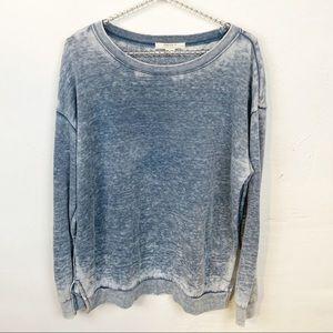 Forever 21 l Blue Burnout Sweatshirt